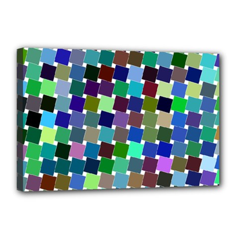 Geometric Background Colorful Canvas 18  X 12  (stretched)
