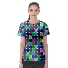 Geometric Background Colorful Women s Sport Mesh Tee by HermanTelo