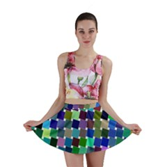 Geometric Background Colorful Mini Skirt