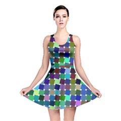 Geometric Background Colorful Reversible Skater Dress
