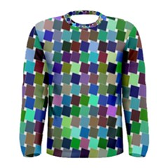 Geometric Background Colorful Men s Long Sleeve Tee