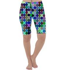 Geometric Background Colorful Cropped Leggings