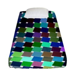 Geometric Background Colorful Fitted Sheet (single Size)