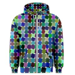 Geometric Background Colorful Men s Zipper Hoodie