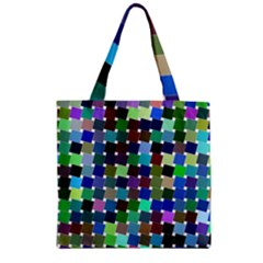 Geometric Background Colorful Zipper Grocery Tote Bag