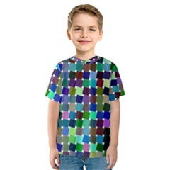 Geometric Background Colorful Kids  Sport Mesh Tee