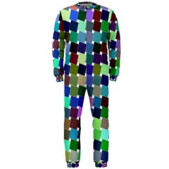 Geometric Background Colorful Onepiece Jumpsuit (men)