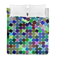 Geometric Background Colorful Duvet Cover Double Side (full/ Double Size)