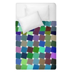 Geometric Background Colorful Duvet Cover Double Side (single Size)