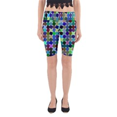 Geometric Background Colorful Yoga Cropped Leggings