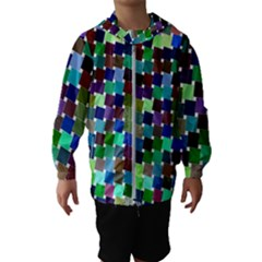 Geometric Background Colorful Kids  Hooded Windbreaker