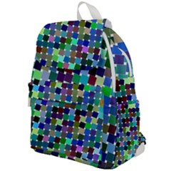 Geometric Background Colorful Top Flap Backpack