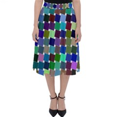 Geometric Background Colorful Classic Midi Skirt