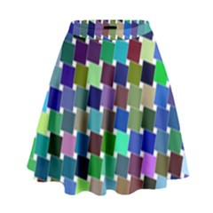 Geometric Background Colorful High Waist Skirt