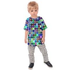 Geometric Background Colorful Kids  Raglan Tee