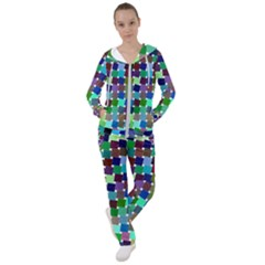 Geometric Background Colorful Women s Tracksuit