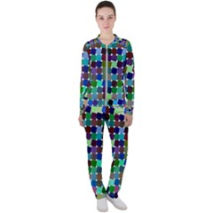 Geometric Background Colorful Casual Jacket And Pants Set