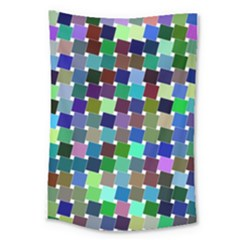 Geometric Background Colorful Large Tapestry