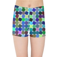 Geometric Background Colorful Kids  Sports Shorts