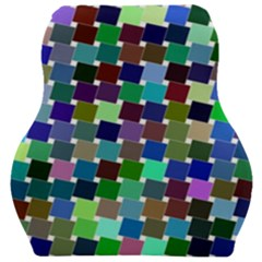 Geometric Background Colorful Car Seat Velour Cushion