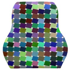 Geometric Background Colorful Car Seat Back Cushion