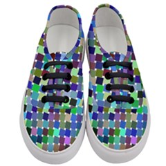 Geometric Background Colorful Women s Classic Low Top Sneakers