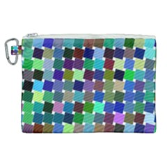 Geometric Background Colorful Canvas Cosmetic Bag (xl)