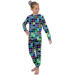 Geometric Background Colorful Kids  Long Sleeve Set  by HermanTelo