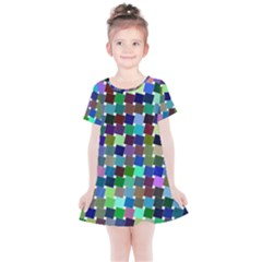 Geometric Background Colorful Kids  Simple Cotton Dress