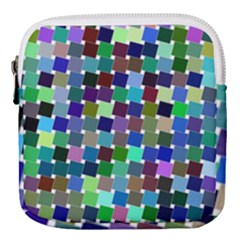 Geometric Background Colorful Mini Square Pouch