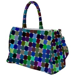 Geometric Background Colorful Duffel Travel Bag
