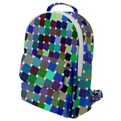 Geometric Background Colorful Flap Pocket Backpack (small)