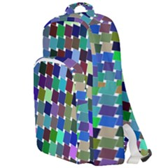 Geometric Background Colorful Double Compartment Backpack