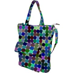 Geometric Background Colorful Shoulder Tote Bag