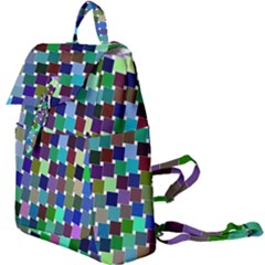 Geometric Background Colorful Buckle Everyday Backpack