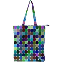 Geometric Background Colorful Double Zip Up Tote Bag