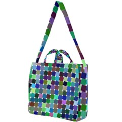 Geometric Background Colorful Square Shoulder Tote Bag