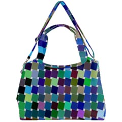 Geometric Background Colorful Double Compartment Shoulder Bag