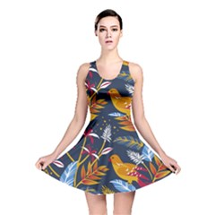 Colorful Birds In Nature Reversible Skater Dress by Sobalvarro