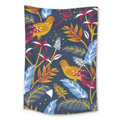 Colorful Birds In Nature Large Tapestry by Sobalvarro