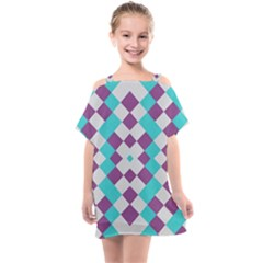 Texture Violet Kids  One Piece Chiffon Dress by Alisyart