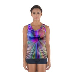 Rays Colorful Laser Sport Tank Top  by AnjaniArt