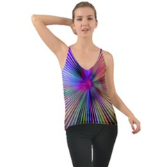 Rays Colorful Laser Chiffon Cami