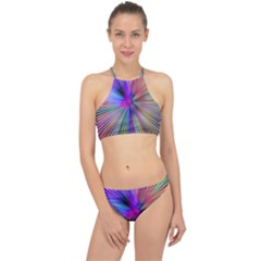 Rays Colorful Laser Racer Front Bikini Set