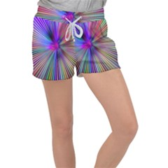 Rays Colorful Laser Women s Velour Lounge Shorts