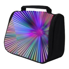 Rays Colorful Laser Full Print Travel Pouch (small) by AnjaniArt