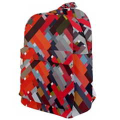 Maze Abstract Texture Rainbow Classic Backpack by Jojostore