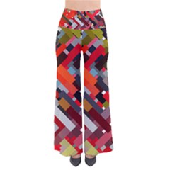 Maze Abstract Texture Rainbow So Vintage Palazzo Pants