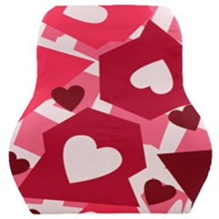 Pink Hearts Pattern Love Shape Car Seat Back Cushion  by Bajindul