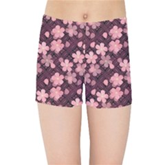 Cherry Blossoms Japanese Kids  Sports Shorts by HermanTelo